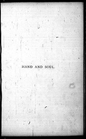 Facsimile images available for Hand and Soul