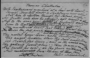 Facsimile images available for Thomas Chatterton (Delaware draft manuscript)
