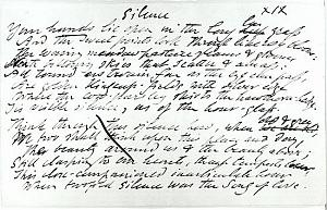 Facsimile images available for Silent Noon (corrected draft, Rosenbach Library)