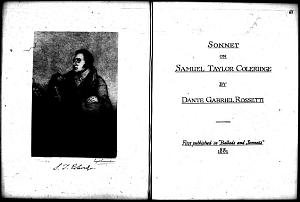 Facsimile images available for Samuel Taylor Coleridge
