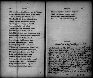 """Facsimile images available for Sonnet on a first reading of """"Sordello"""" (fair copy,                    Houghton Library, Harvard U.)"""