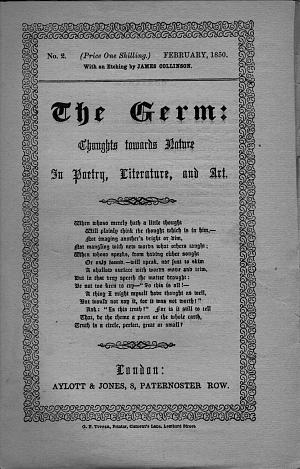 Facsimile images available for The Germ (British Library Copy, second issue)