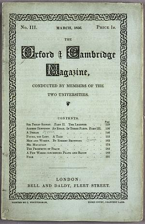 Facsimile images available for The Oxford and Cambridge Magazine (March issue)