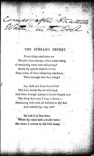Facsimile images available for Ashley 1404 (Page Proofs for The Stream's Secret
