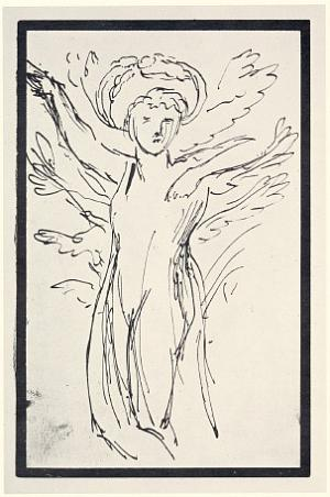 Study for an unknown work; Haloed figure, perhaps Daphne