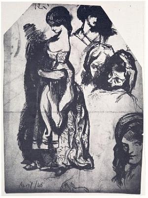 Standing female, reminiscent of Dulcinea in Don Quixote