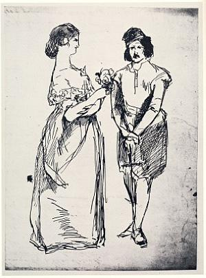 Comic encounter between a cavalleria rusticana and a girl