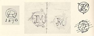 Calligraphic and heraldic designs