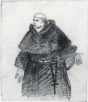 Monk in habit, with cincture