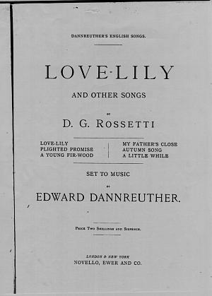 Facsimile images available for Love-Lily and Other Songs