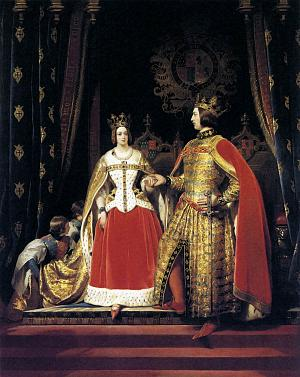 Queen Victoria and Prince Albert at the Bal Costumé of 12 May 1842