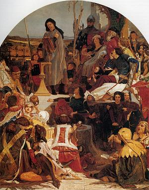 "Geoffrey Chaucer Reading the ""Legend of Custance"" 