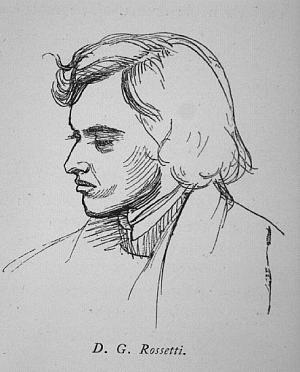 Sketch of Dante Gabriel Rossetti
