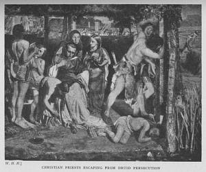 Christian Priests Escaping from Druid Persecution