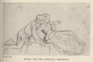 Study for the Hireling Shepherd