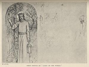 """First Sketch of """"Light of the World."""""""