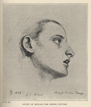 Study of Millais for Rienzi Picture