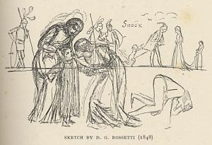 Sketch by D. G. Rossetti (1848)