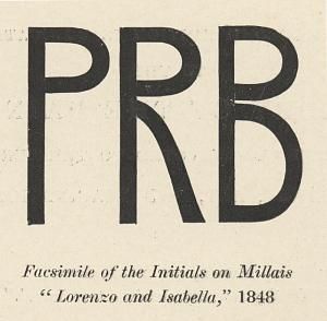 "Facsimile of the Initials on Millais ""Lorenzo and Isabella,"" 1848"
