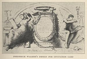 FREDERICK WALKER's DESIGN FOR INVITATION CARD