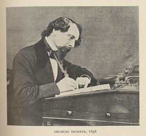 Portrait of Charles Dickens, 1858