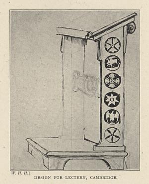 DESIGN FOR LECTERN, CAMBRIDGE