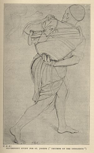 "SILVERPOINT STUDY FOR ST. JOSEPH (""TRIUMPH OF THE INNOCENTS"")"