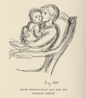 EDITH HOLMAN-HUNT AND HER SON