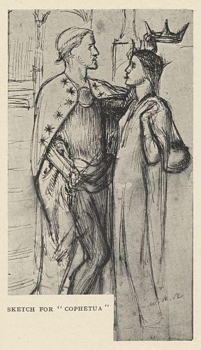 "Sketch for ""Cophetua"