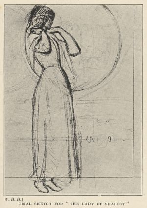 """Trial Sketch for """"The Lady of Shalott"""""""
