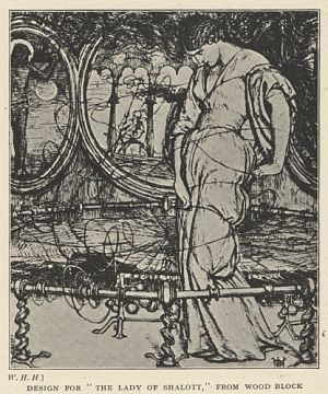 "Design for ""The Lady of Shalott,"" from Wood Block"