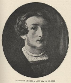 Frederick Leighton, Aged 21, By Himself