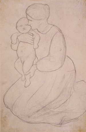 The Seed of David (study for Virgin and Child)