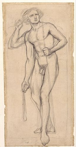 The Seed of David (nude study for shepherd)