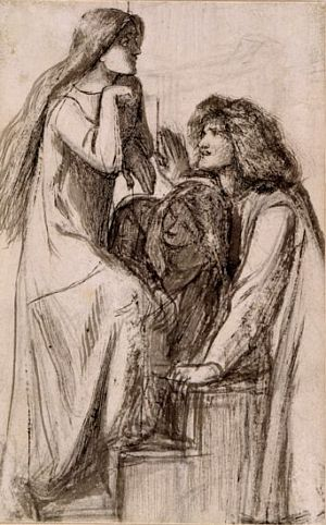 Mary Magdalene at the Door of Simon the Pharisee (sketch for principal group)