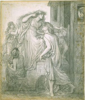 Mary Magdalene at the Door of Simon the Pharisee (design for oil painting)