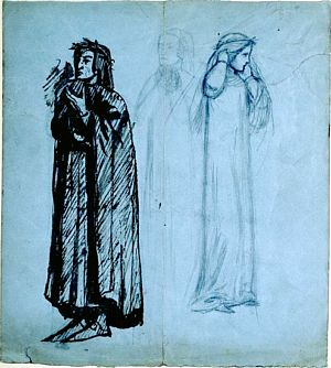 The Meeting of Dante and Beatrice in Paradise (rough sketch)