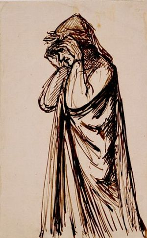 The Salutation of Beatrice (sketch of Dante)