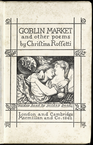 Woodcut for Goblin Market: title page