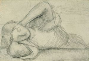 Beata Beatrix (sketch of central figure)