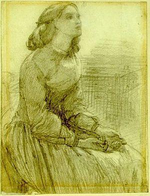 Beata Beatrix (study of Elizabeth Siddal)