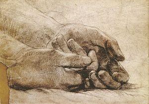 Beata Beatrix (study for hands)