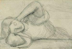 Beata Beatrix (sketch of young woman)