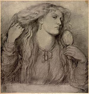 Study for Woman Combing Her Hair [print]