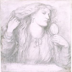 Woman Combing Her Hair (study)