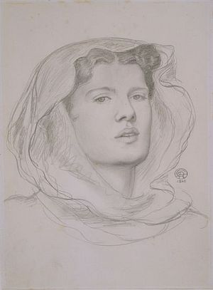 The Beloved (study for head of bridesmaid)