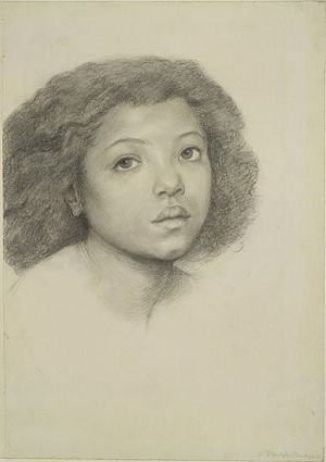 The Beloved (study for African girl)