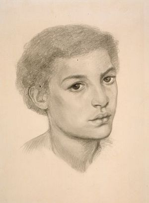 The Beloved (study for African girl with short hair)