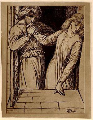 Hamlet and Ophelia [print]