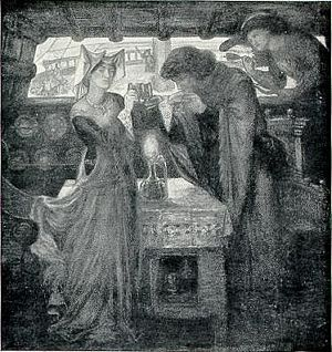 Sir Tristram and La Belle Yseult Drinking the Love Potion